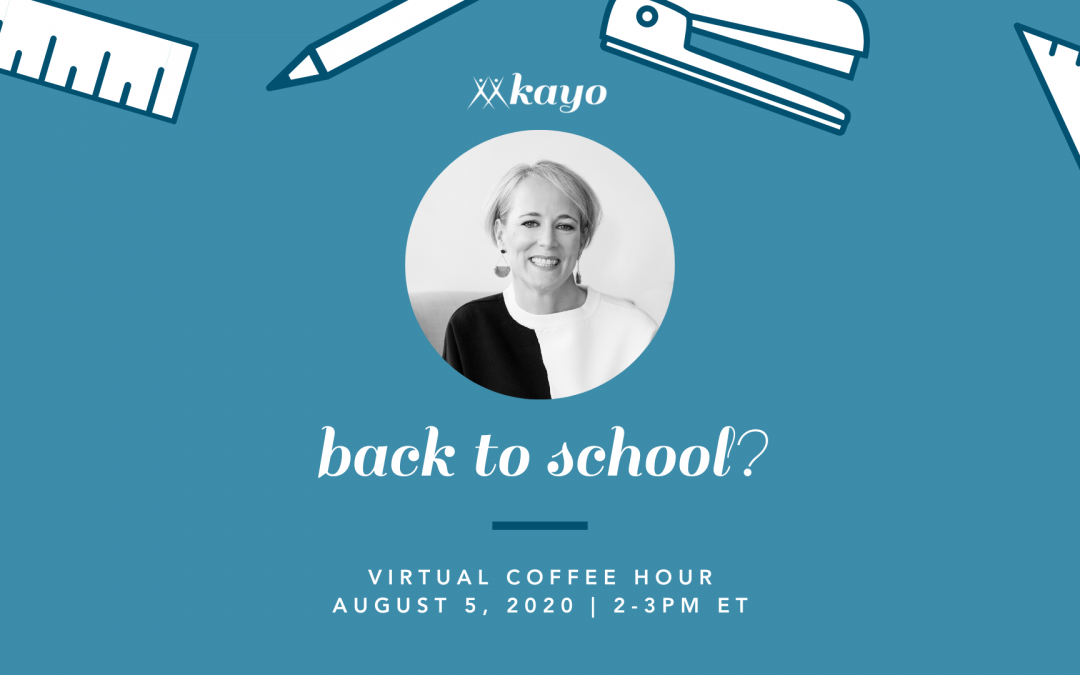Back to School Virtual Coffee Hour